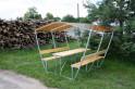 Zahradní zastřešená lavička LANITPLAST TULIP 3 / bronz PC 8 mm