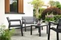 Zahradní nábytek Keter Emily Patio Set se sedáky grafitová