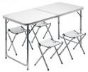 Stůl Cattara DOUBLE šedý + 4x židlička