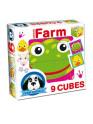 Skládací obrázkové kostky Farm animals