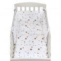3-dílné ložní povlečení New Baby 90/120 cm hvězdičky hnědé 90/120 cm