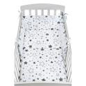 3-dílné ložní povlečení New Baby 90/120 cm hvězdy šedé 90/120 cm