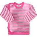 Kojenecká košilka New Baby Classic II s růžovými pruhy 62 (3-6m)