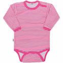 Kojenecké body New Baby Classic II s růžovými pruhy 80 (9-12m)