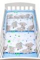 2-dílné ložní povlečení New Baby 90/120 cm modré se sloníky 90x120 cm