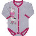 Dětské celorozepínací body New Baby Love Mouse 62 (3-6m)