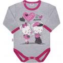 Dětské body s dlouhým rukávem New Baby Love Mouse 74 (6-9m)