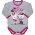 Dětské body s dlouhým rukávem New Baby Love Mouse 86 (12-18 m)