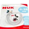Šidítko NUK Trendline Mickey Mouse 6-18m šedé 6-18 m