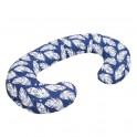 Univerzální kojící polštář ve tvaru C New Baby Pírka modrý