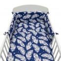 3-dílné ložní povlečení New Baby 90/120 cm Pírka modré