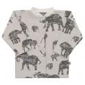 Kojenecký kabátek Baby Service Sloni šedý 56 (0-3m)