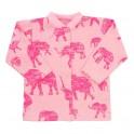 Kojenecký kabátek Baby Service Sloni růžový 62 (3-6m)