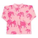 Kojenecký kabátek Baby Service Sloni růžový 68 (4-6m)