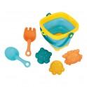 Skládací kyblík a hračky do vody 5ks BAYO
