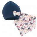 Kojenecká čepička s šátkem na krk New Baby Missy modrá 62 (3-6m)
