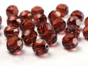 Krystalové korálky 10mm, hnědé