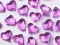 Krystalky srdce tmavě růžové, 30 ks
