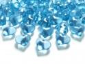 Krystalky srdce tyrkys, 30 ks