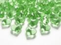 Krystalky srdce sv. zelené, 30 ks