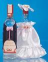 Ozdoba na lahve šaty a oblek bílo-růžová