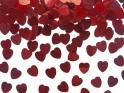 Konfety červená srdíčka  10 mm  30 gr