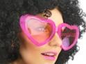 Velká srdce brýle, růžové