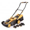 Riwall PRO RALM 3820 set akumulátorová travní sekačka 20 V