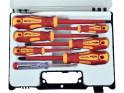 Extol Premium 53087 šroubováky elektrikářské se zkoušečkou, sada 7ks, 3x(-),3x(PH), CrV