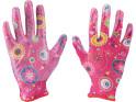 Extol Lady 8856669 rukavice zahradní nylonové polomáčené v nitrilu, velikost 7