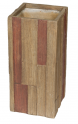 Květináč G21 Wood Tube dark 33x33x70cm