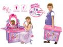 Dětský kosmetický stolek G21 se zrcadlem a zvuky v kufru