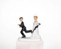 Svatební figurky nevěsta s puškou