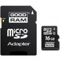 MicroSDHC 16GB CL4 + adapter GOODRAM