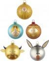 Sada vánočních ozdob Palle Presepe 5 ks, Alessi