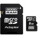 MicroSDHC 8GB CL10 UHS1 + adap. GOODRAM