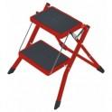 Hailo Mini, ocelové schůdky 2 stupně - červené