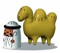Porcelánové figurky Amir & Camelus, Alessi