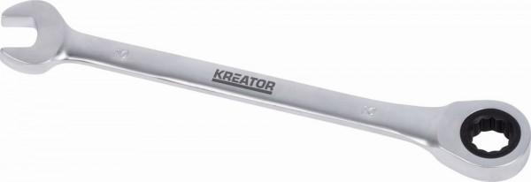 KRT501308 - Oboustranný klíč očko-ráčna/otevřený 15 - 207mm