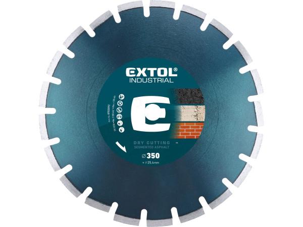 Extol Industrial - 350x25,4 mm, kotouč diamantový řezný segmentový na asfalt, 8703092