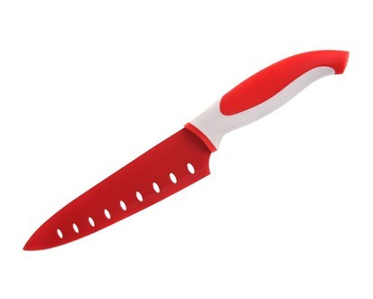 BANQUET Nůž kuchařský s nepřilnavým povrchem SYMBIO 31 cm, červený
