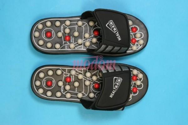 SJH 314 A - Akupresurní masážní pantofle suché zipy (nanotextilie s magnety)